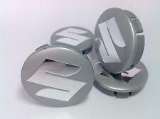 SUZUKI 4pcs Plastic Wheel Centre Caps with Chromed Emblem 60mm/55mm NEW