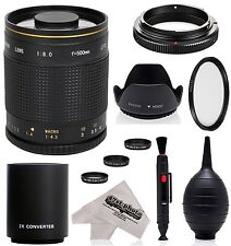 Super 500mm/1000mm f/8 Mirror Telephoto Lens for Nikon Digital Cameras