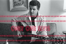 1958 The EVERLY BROTHERS Photo DON plays guitar in New York Hotel Room