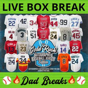 CINCINNATI REDS Gold Rush autographed/signed baseball jersey LIVE BOX BREAK