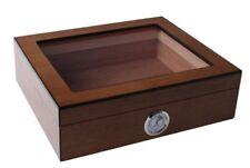 Echtholzfurnier Humidor Kristallglas Polymerbefeuchter 30 Zigarren,statt:71,50€