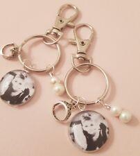 Audrey Hepburn Pearls Tiara Vintage Movie Star Keyring Bag Charm Gift Tag Wrap