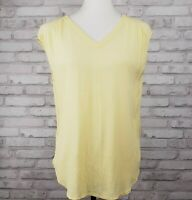 Chico's size 0 lemon yellow sleeveless V-neck top loose-fitting 40-inch bust