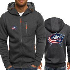 Columbus Blue Jackets Hoodie Hockey Sports Hooded Sweatshirt Jacket Gift for Fan