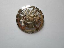 broche en argent massif, maya, inca