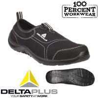 Mens Womens Slip On Lightweight Flexible Delta Safety Shoes Trainers Steel Toe