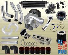Honda Prelude Vtec H22A T3/T4 Turbocharger Turbo Kit Black+Manifold+Bov+Wg+Gauge