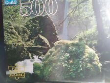 """Guild Jigsaw Puzzle Columbia River Gorge Or River Moss 500 pcs 15"""" x 18"""" New"""