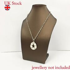 GOLD BRONZE  Jewellery Bust Display Necklace Chain Pendant Holder Stand Large