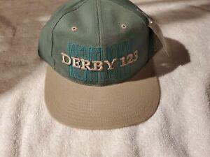 Kentucky Derby 123 Horse Racing Baseball Cap Hat Green Snapback New! Not Worn!