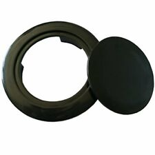 Do4U Patio Table Umbrella Hole Ring Plug Cover and Cap For Table Set -2in -Black