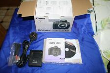 Canon EOS 600D 18.0MP Digital SLR Camera IN BOX + BATTERY,CHARGER, MANUAL,LEADS.