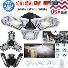 E27 LED Garage Light Bulb Deformable Ceiling Fixture Lights Workshop Shop Lamp