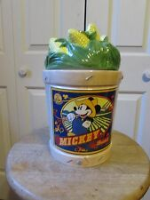 """MICKEY MOUSE """"HOME GROWN"""" COOKIE JAR FROM ENESCO NIB"""