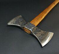 6,79 LBS Double bit Bearded Axe viking style Tomahawk Battle Axe