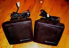 LOT OF 2 MOTOROLA ASTRO SPECTRA SYNTOR MOBILE RADIO SPEAKER