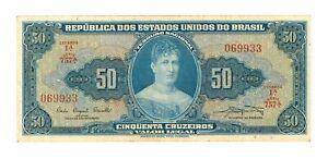 Brazil 50 Cruzeiros - ND 1961 Banknote  -  FINE