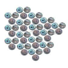 45PCS Chrome-plated Small Instrument Finger Buttons With Abalone Shell Inlay