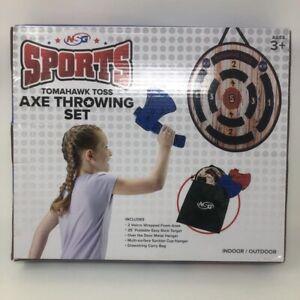 NSG Sports Tomahawk Toss Axe Throwing Set Easy Stick Target Indoor/Outdoor New