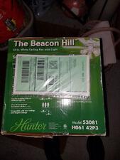 Hunter Fan Company 53081 The Beacon Hill 42-Inch Ceiling Fan with Five White/Lig