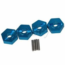 4 x Blue A580040 12x4mm Alloy Upgrade Wheel Hex Mount & Pin for WL RC1:18 Car