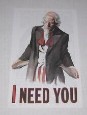 Double Sided - U.S. Uncle Sam - 1997 Dc Comics Advertisement Sheet - Rare