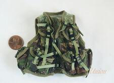 1 6 Figure US Marine NATO Woodland Camo Tactical Vest Jacket Uniform DA287