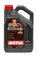 MOTUL OLIO 8100 ECO CLEAN 5W-30 LUBRIFICANTE MOTORE 5 LT EURO 4 EURO 5 MOTO AUTO