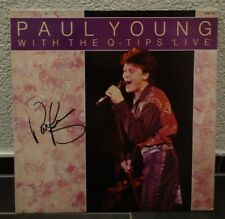 "PAUL YOUNG ""with the Q"" Vinyl LP original signiert signed IN PERSON Autogramm"