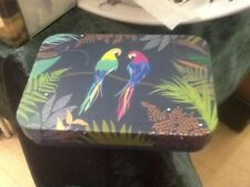 Sarah Miller small decorative Tin, Parrots