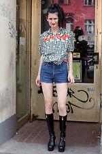 Brittania Damen Jeans kurz Hose short pants blau 80er True VINTAGE 80s women