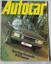 Autocar magazine 12/6/1976 featuring Ford Granada, Escort RS2000, Land Rover