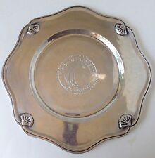 Lexis Nexis Award Polished Metal Charger Plate Plaque Circle Of Excellence Shell