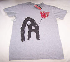 Transformers Chimp Autobots Mens Grey Printed T Shirt Size S New