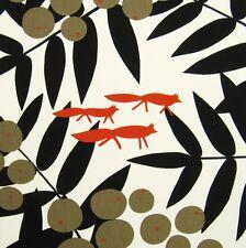 Scandinavian fabric 70s vtg rétro tissu fox diy coussins/wall hanging art