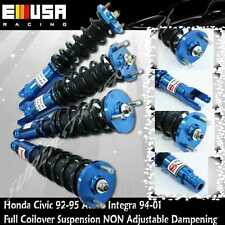 Full Coilover Suspension Lowering Kit BLUE for 94-01 Acura Integra/92-95 Civic
