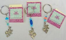 Made-in-the-USA Autism Awareness Pewter Puzzle Piece Connected by Love Keychain