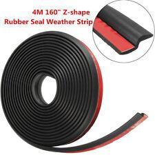 """4M 160"""" Z-shape Car Window Door Rubber Seal Weather Strip Hollow Weatherstrip"""
