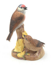 Royal Worcester Linnets (On Stump) Bird Figurine RW3365 by Eva Soper