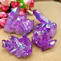 Titanium Natural Druzy Quartz Cluster Crystal Geode Gemstone Specimen Decor Gift