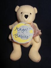 "North American Bear #1567 Angel Babies 5"" ~ Pink Ribbon ~ NWT NEW with TAGS"