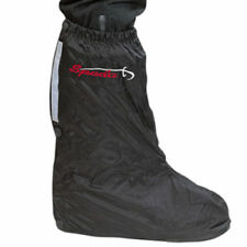 Bottes imperméable noir en caoutchouc pour motocyclette