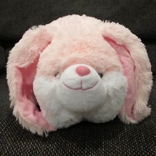 "NWT Pink Floppy ear dog expandable pillow by Plush & Plush Large 19"" x 19"""
