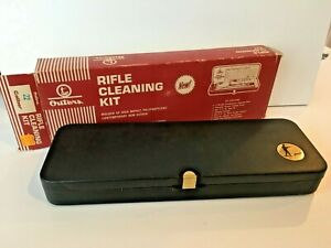 Vintage OUTERS No. P-477 Rifle Cleaning Kit 22 cal Plastic Case NEVER USED, Mint
