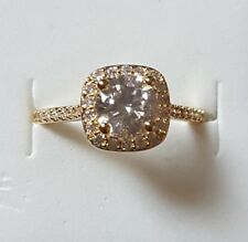 WHOLESALE 18kGOLD PLATED RING WITH FINE CENTRE CZ INC GIFT BOX.