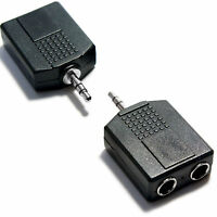 3.5MM PLUG TO 2x 6.35MM JACK SPLITTER ADAPTER HEADPHONE