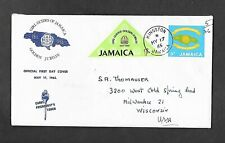 JAMAICA 1965 REGISTERED FIRST DAY COVER - GIRL GUIDE EMBLEMS