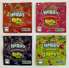 NERDS ROPES BITES Medicated Empty Packaging Bags - NEW 4 Flavors