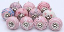 Pink Color Ceramic Door Knobs Handpainted Kitchen Cabinet Drawer Pulls Knobs 10