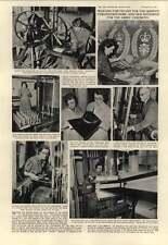 1952 Hilda Calvo Lily Lee Weaving Queens Robes On Hand Loom Hms Glory Korea